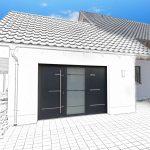 Porte de garage à 3 vantaux