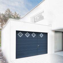 porte de garage bleu nuit