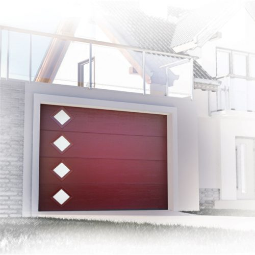 comment installer une porte de garage sectionnelle